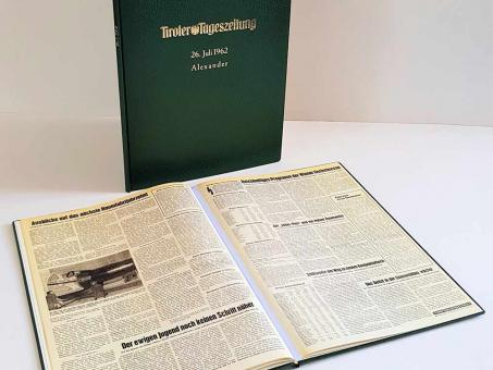 Jubiläumsausgabe der Tiroler Tageszeitung - Der Buchbinder Köll